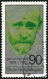 GERMANY - 1978: shows Janusz Korczak 1878-1942, physician, educator, proponent of children`s rights. GERMANY - CIRCA 1978: A stamp printed in Germany shows Royalty Free Stock Photography