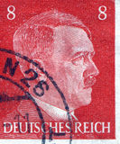 GERMANY - CIRCA 1942: A stamp printed in Germany shows portrait of Adolf Hitler, circa 1942. Royalty Free Stock Image