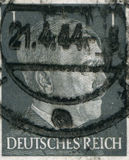 GERMANY - CIRCA 1942: A stamp printed in Germany shows portrait of Adolf Hitler, circa 1942. Stock Photo
