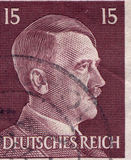 GERMANY - CIRCA 1942: A stamp printed in Germany shows portrait of Adolf Hitler, circa 1942. Royalty Free Stock Images
