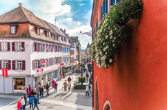 Germany, the city of Lahr, October 28, 2015, the main street of Royalty Free Stock Photography