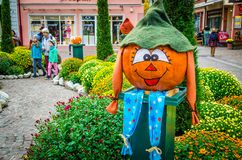Germany, the city of Lahr, October 28th, 2015 Making Halloween t Royalty Free Stock Images