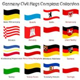 Germany civil flags collection against white Stock Images