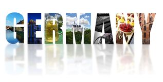 Germany collage isolated on white Royalty Free Stock Photos