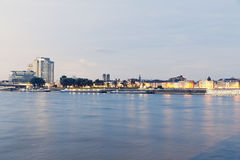 Germany, Cologne, River Rhine, District Deutz Stock Images