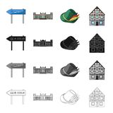 Germany, construction, travel, and other web icon in cartoon style. Berlin, palace, administration icons in set Stock Photography