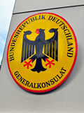 Germany consulate sign Royalty Free Stock Photo