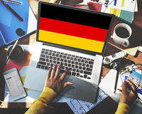 Germany Country Flag Nationality Culture Liberty Concept Royalty Free Stock Photography