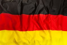 Germany national flag with waving fabric stock photography