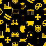 Germany country theme symbols seamless pattern eps10 Stock Photography