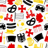 Germany country theme symbols seamless pattern eps10 Royalty Free Stock Photo