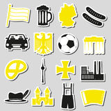 Germany country theme symbols stickers set eps10 Stock Photo