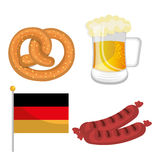 Germany cultures and oktober fest design. Stock Image