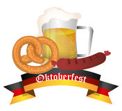 Germany cultures and oktober fest design. Stock Photography