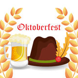 Germany cultures and oktober fest design. Royalty Free Stock Photo