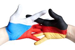 Germany and czech republic Royalty Free Stock Photography