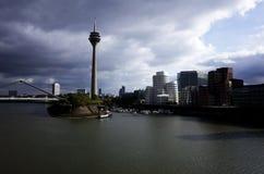 Germany Düsseldorf Medien Hafen. With TV Tower Royalty Free Stock Image