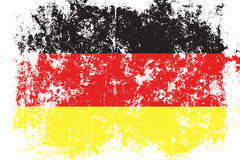 Germany,Deutschland grunge, old, scratched style flag Stock Photos
