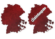 Germany disintegration Royalty Free Stock Photos