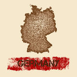 Germany distressed map. Royalty Free Stock Photo