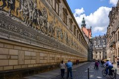 Street in the Old Town of Dresden, Germany Stock Photo