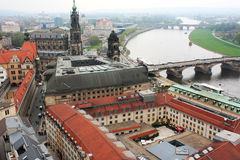 Germany.Dresden. Lovely view of the historic architecture of Dresden Royalty Free Stock Image