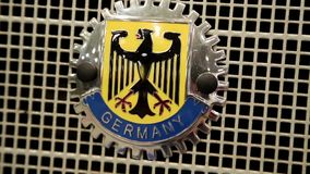 Germany eagle car grille badge stock video footage