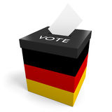 Germany election ballot box for collecting votes. Isolated on a white background Royalty Free Stock Photo