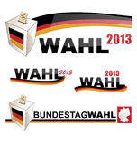 GERMANY ELECTIONS. GERMAN ELECTIONS ELEMENTS AND SYMBOLS BACKGROUND FLAG Stock Photography