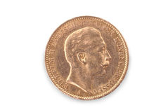 Germany empire gold coin (Wilhelm II king of Wurttemberg) Stock Photo