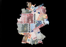 Germany with euro notes Stock Images