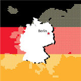 Germany with europe Royalty Free Stock Photos