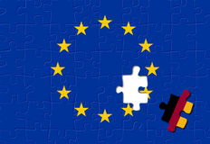 Germany and European Union. Jigsaw puzzle showing Germany is a part of the European Union Stock Image