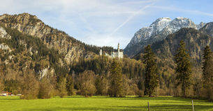Germany. The famous Neuschwanstein Castle, panorama view Royalty Free Stock Photo