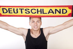 Germany fan. Royalty Free Stock Photo