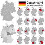 Germany and federal states. European country germany and the federal states Stock Photo