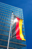 Germany flag. On a glass wall background Stock Photo