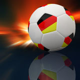 Germany flag on 3d Football. For Euro 2012 Group B Royalty Free Stock Image