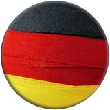GERMANY flag or banner. Made with black, red and yellow ribbons stock illustration