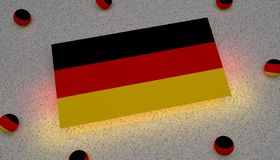 Germany Flag black red yellow europe royalty free illustration