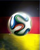Germany Flag Brasil. Germany flag with Brazuca football, Rio Brasil 2014 vector illustration