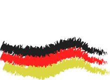 Germany flag in carbon pencil version. Colored in black red gold Stock Photo