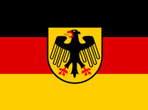 Germany flag with coat of arms  vector Stock Photo