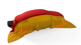 Germany flag covered car concept. 3d illustration. Suitable for any smart car,auto pilot or electric car concept Stock Image