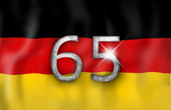 Germany 65 Flag Design Stock Photography