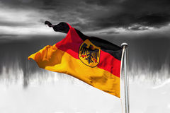 Germany flag on dramatic sky Royalty Free Stock Images