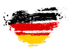 Germany flag in heart shape Stock Photos
