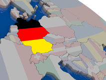 Germany with flag Royalty Free Stock Photography