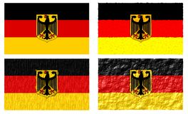 Germany flag illustrations. In different shape isolated Stock Photos
