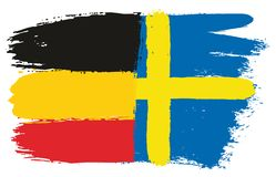 Germany Flag. This image is a vector illustration and can be scaled to any size without loss of resolution Stock Photo